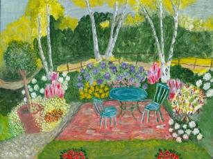 Faith Stewart-Gordon Garden Fantasy at Night