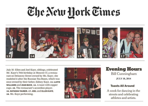 Sunday Styles NY Times  - Bill Cunningham